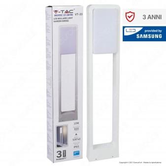 V-Tac VT-33 Lampada LED da Giardino 10W Alluminio Bianco con Fissaggio a Terra IP65 Lampione 800mm - SKU 20116 / 20117 / 20118