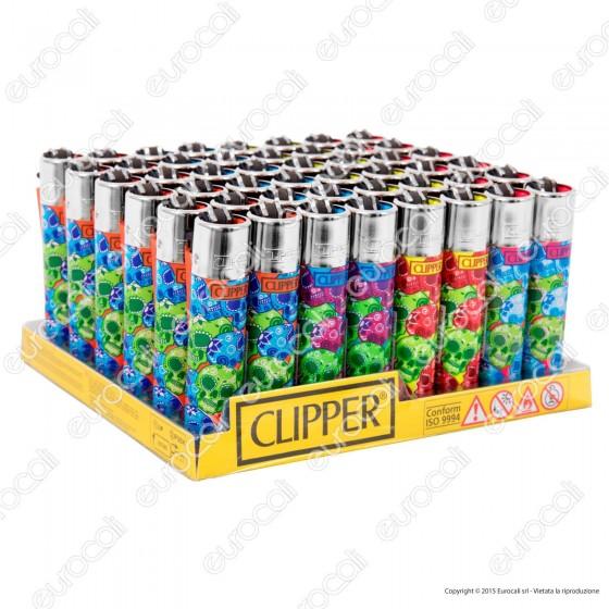 Clipper Large Fantasia Muerta Pattern - Box da 48 Accendini