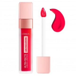 L'Oréal Paris Kit Labbra Pochette Tinte Labbra Les Macarons Ultra Matte Lipstick Colori 828 Framboise Frenzy e 820 Praline