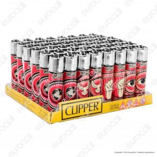 Clipper Large Fantasia Red Street Art - Box da 48 Accendini
