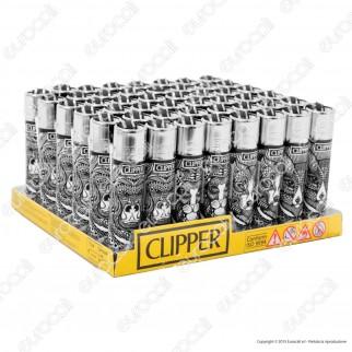 Clipper Large Fantasia Tattoo Animals - Box da 48 Accendini