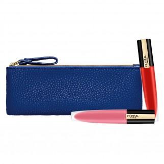 L'Oréal Paris Kit Labbra Pochette Tinte Labbra Rouge Signature Extra Matte Colori 115 I Am Worth It e 105 I Rule Un-Nude