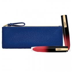 L'Oréal Paris Kit Labbra Pochette Tinte Labbra Brillant Signature Effetto Vinile Colori 312 Be Powerful e 302 Be Outstanding