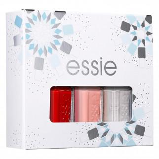 Essie Kit Smalti Minisize a Lunga Tenuta dal Risultato Professionale e Lucido Colori Rosso Rosa e Argento