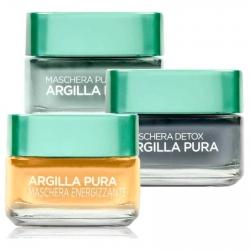 L'Oréal Paris Argilla Pura Multi-Masking Set Maschere Viso Purificante Detox Energizzante