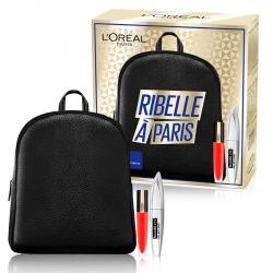 L'Oréal Paris Ribelle à Paris Zainetto con Mascara Bambi Eye e Tinta Labbra Rouge Signature Colore 113 I Don't