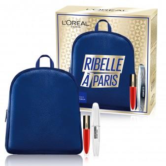 L'Oréal Paris Ribelle à Paris Zainetto con Mascara Farfalla False Lash e Tinta Labbra Rouge Signature Colore 115 I Am Worth It