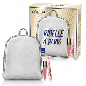 L'Oréal Paris Ribelle à Paris Zainetto con Mascara Lash Paradise e Tinta Labbra Rouge Signature Colore 105 I Rule Un-Nude