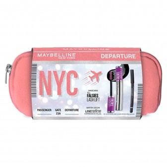 Maybelline New York Departure Eyekit Mascara Nero + Matita Occhi Nera + Pochette