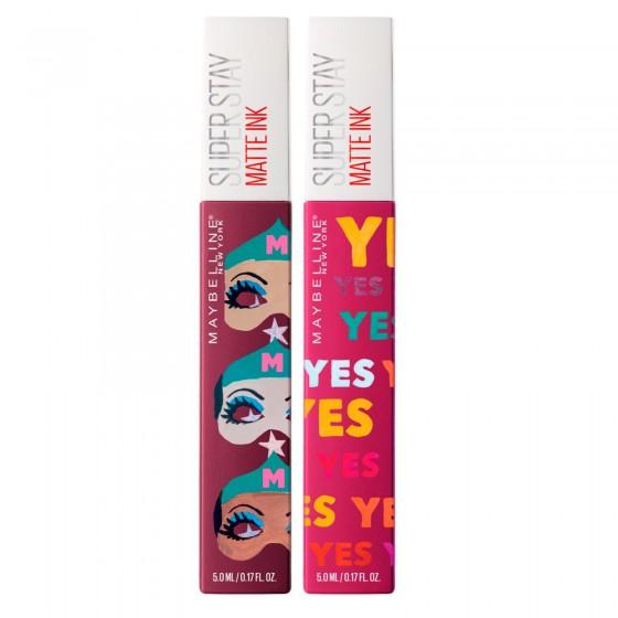 Maybelline New York SuperStay Matte Ink 2 Rossetti Liquidi Colore 40 Believer e 120 Artist