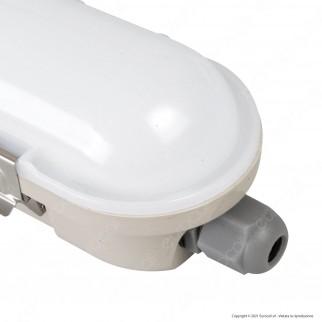 V-Tac VT-120136E Tubo LED Plafoniera M-Series 36W Lampadina 120cm Impermeabile IP65 con Kit di Emergenza - SKU 20223 / 20222