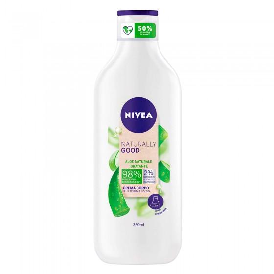 Nivea Naturally Good Crema Corpo Idratante all'Aloe - Flacone da 350ml