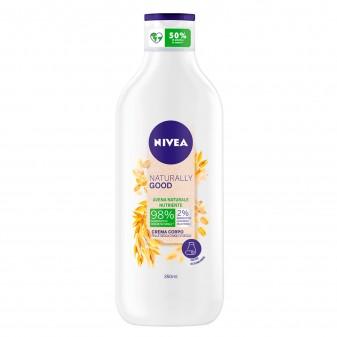 Nivea Naturally Good Crema Corpo Nutriente all'Avena - Flacone da 350ml