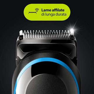 Braun Trimmer MGK5280 Rifinitore Multiuso Uomo 9in1 con Rasoio Gillette ProgGlide Flexball