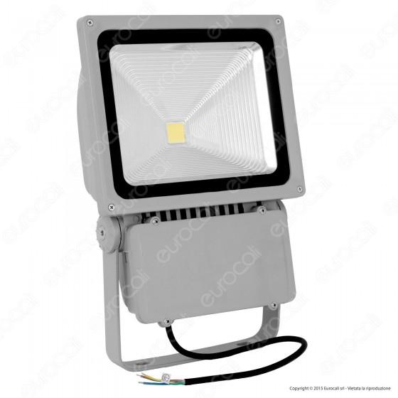 V-Tac VT-47100 Faretto LED 100W da Esterno colore Grigio