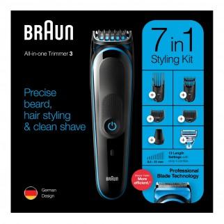 Braun Trimmer MGK3242 Rifinitore Multiuso Uomo 7in1 con Rasoio Gillette SkinGuard