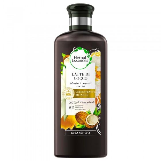 Herbal Essences Shampoo Idratante Capelli Latte di Cocco - Flacone da 250ml