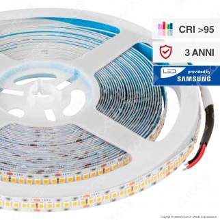 V-Tac PRO VT-2835 Striscia LED Monocolore 240 LED/metro 24V CRI≥95 Chip Samsung - Bobina da 10 metri - SKU - 331 / 332 / 333
