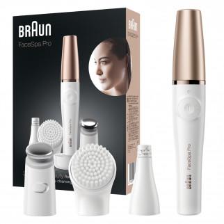 Braun FaceSpa Pro 911 Epilatore Donna per Viso con Spazzola di Pulizia Facciale