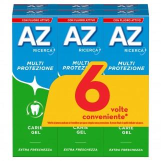 AZ Dentifricio Multi Protezione Carie Gel - 6 Tubetti da 75ml