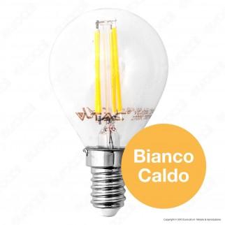 V-Tac VT-1996D Lampadina LED E14 4W MiniGlobo Filamento P45 Dimmerabile