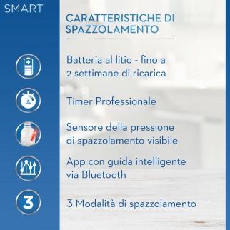 Oral-B Smart 4 4500 Cross Action Spazzolino Elettrico Ricaricabile Nero con 2 Testine e Custodia Viaggio
