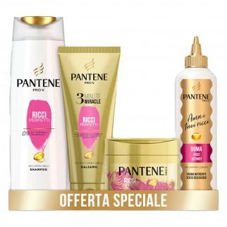 Pantene Pro-V Ricci Perfetti Trattameno Completo Shampoo Balsamo Maschera e Crema - 4 Prodotti