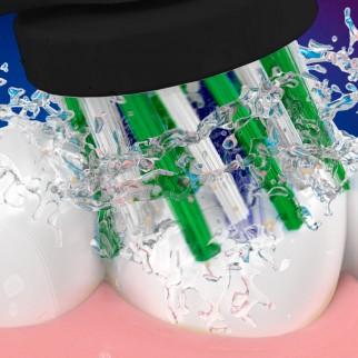 Oral-B CrossAction Testine di Ricambio per Spazzolino Elettrico Nere - Confezione da 8 testine