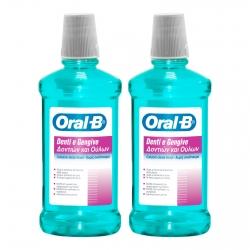 Oral-B Denti e Gengive Collutorio con Cetilpiridino Cloruro Senza Alcool - Confezione da 2 Flaconi da 500ml