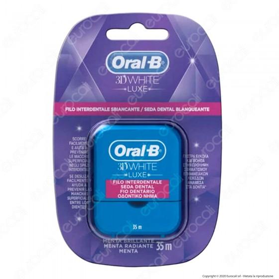 Oral-B 3D White Luxe Filo Interdentale Sbiancante alla Menta