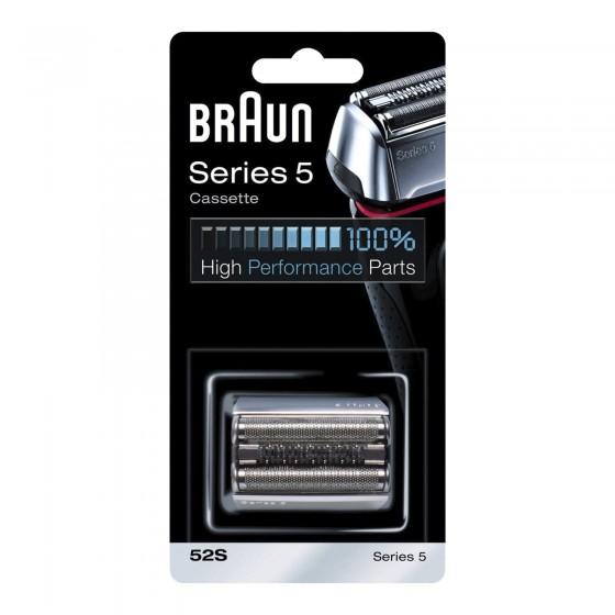 Braun Testina di Ricambio 52S per Rasoi Elettrici Braun Series 5 Color Argento