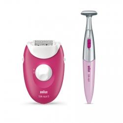 Braun Silk-épil 3 3-420 Epilatore Elettrico con Smartlight e Rifinitore Radente Bikini Styler