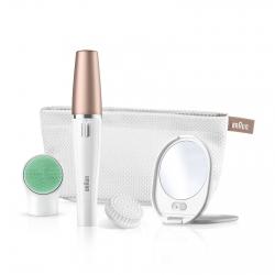 Braun FaceSpa 851V Epilatore Viso Donna 3in1 Rivitalizza e Deterge la Pelle con 5 Accessori