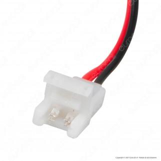 V-Tac Connettore Flessibile per Strisce LED Monocolore di Larghezza 8mm con Clip 2 Pin - SKU 2657