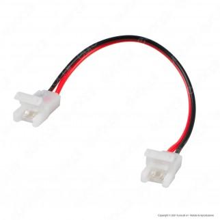 V-Tac Connettore Flessibile per Strisce LED Monocolore di Larghezza 10mm con Clip 2 Pin - SKU 2661