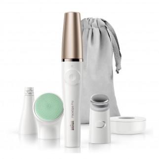 Braun FaceSpa Pro 913 Epilatore Viso Donna 3in1 Rivitalizza e Massaggia la Pelle con 5 Accessori