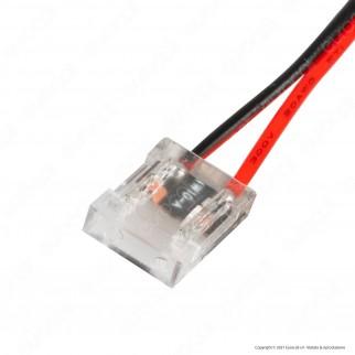 V-Tac Connettore Flessibile per Strisce LED COB di Larghezza 10mm con Connettore 2 Pin - SKU 2666