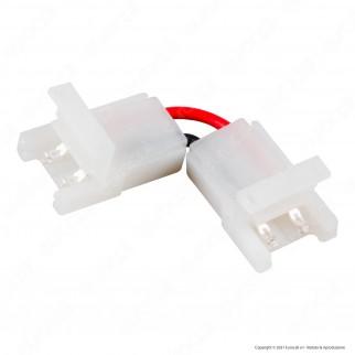 V-Tac Connettore a L Angolare 90° per Strisce LED Monocolore di Larghezza 8mm con Clip 2 Pin - SKU 2658