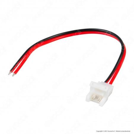 V-Tac Connettore Flessibile per Strisce LED Monocolore di Larghezza 8mm da Clip 2 Pin a Cavi a Saldare - SKU 2656