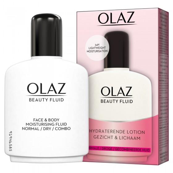 Olaz Beauty Fluid Lozione Viso e Corpo Idratante 24h Texture Leggera
