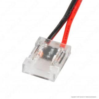 V-Tac Connettore Flessibile per Strisce LED COB di Larghezza 10mm da 2 Pin a Cavi a Saldare - SKU 2665