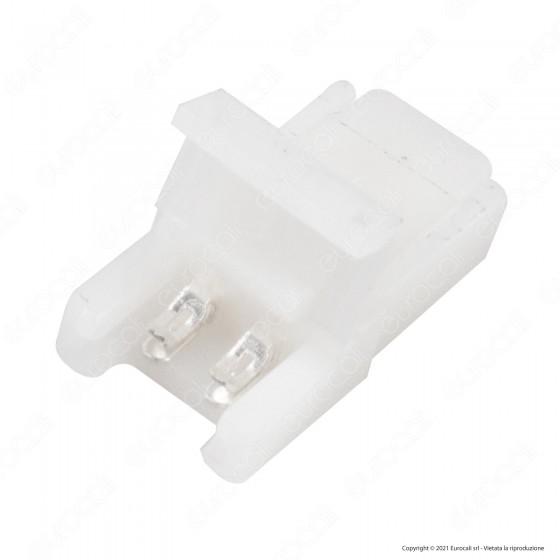 V-Tac Connettore per Strisce LED Monocolore di Larghezza 8mm da Clip 2 Pin a Morsetti - SKU 2655