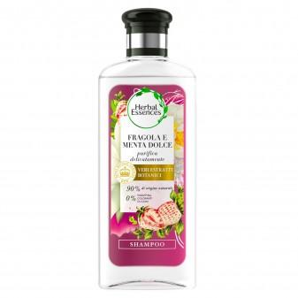 Herbal Essences Shampoo Fragola Bianca e Menta Dolce Capelli Sottili Cruelty Free - Flacone da 250ml
