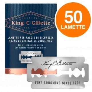 King C Gillette 50 Lame di Ricambio per Rasoio di Sicurezza