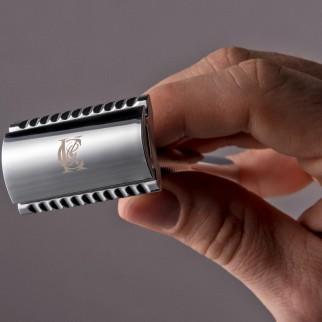 King C Gillette Double Edge Rasoio di Sicurezza con 45 Lame di Ricambio