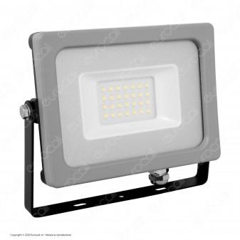 V-Tac VT-4922 Faretto LED SMD 20W Ultra Sottile da Esterno Colore Grigio e Nero - SKU 5792 / 5793 / 5794