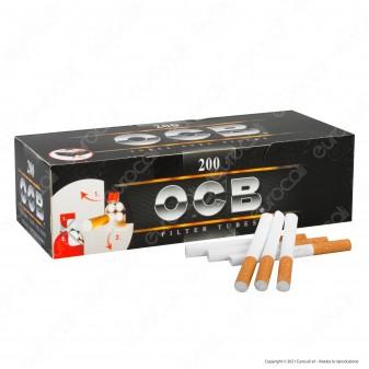 PROV-B00153013 - Ocb Tubetti con Filtro - Box da 200 Sigarette Vuote