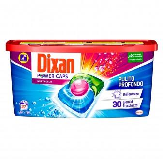 Dixan Power Caps Multicolor Detersivo in Capsule per Lavatrice - Confezione da 27 Capsule