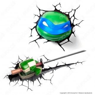 3D Light Fx Teenage Mutant Ninja Turtles Leonardo - Lampada LED a Batteria