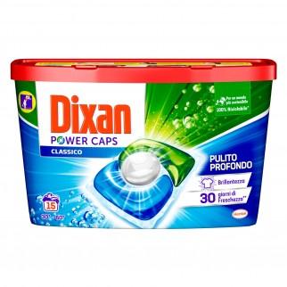 Dixan Power Caps Classico Detersivo in Capsule per Lavatrice - Confezione da 15 Capsule